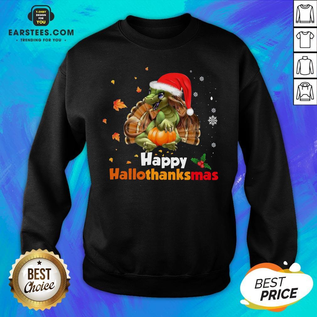 Perfect Dragon Happy Hallothanksmas Sweatshirt - Design By Earstees.com