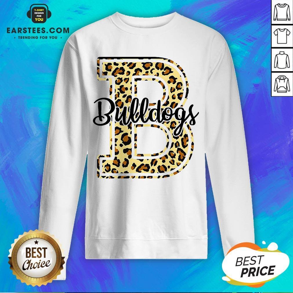 Premium Bulldogs Leopard Sweatshirt - Design By Earstees.com