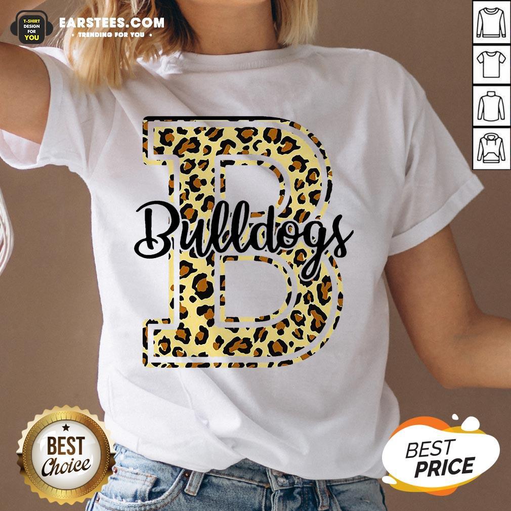 Premium Bulldogs Leopard V-neck - Design By Earstees.com