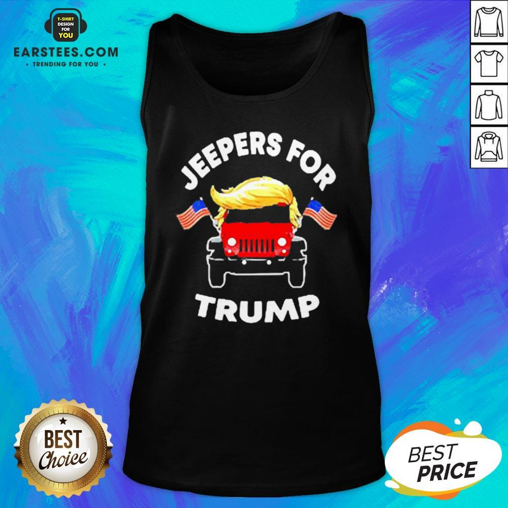 Pretty Jeepers For Trump American Tank Top - Design By Earstees.com