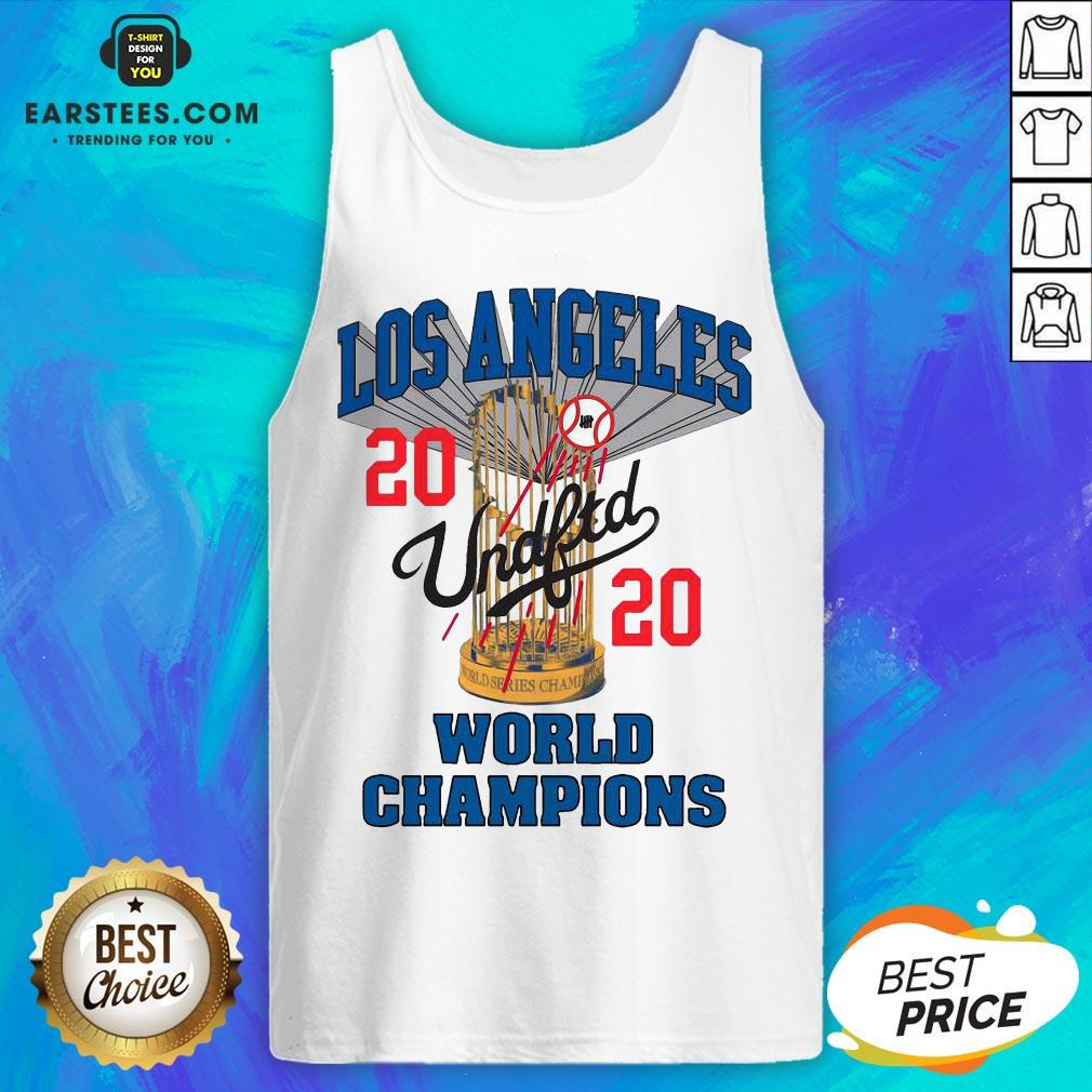 Official MLB Los Angeles Dodgers Undefeated 2020 World Championship Dodgers National League Champions 2020 Blue Tank Top - Design By Earstees.com
