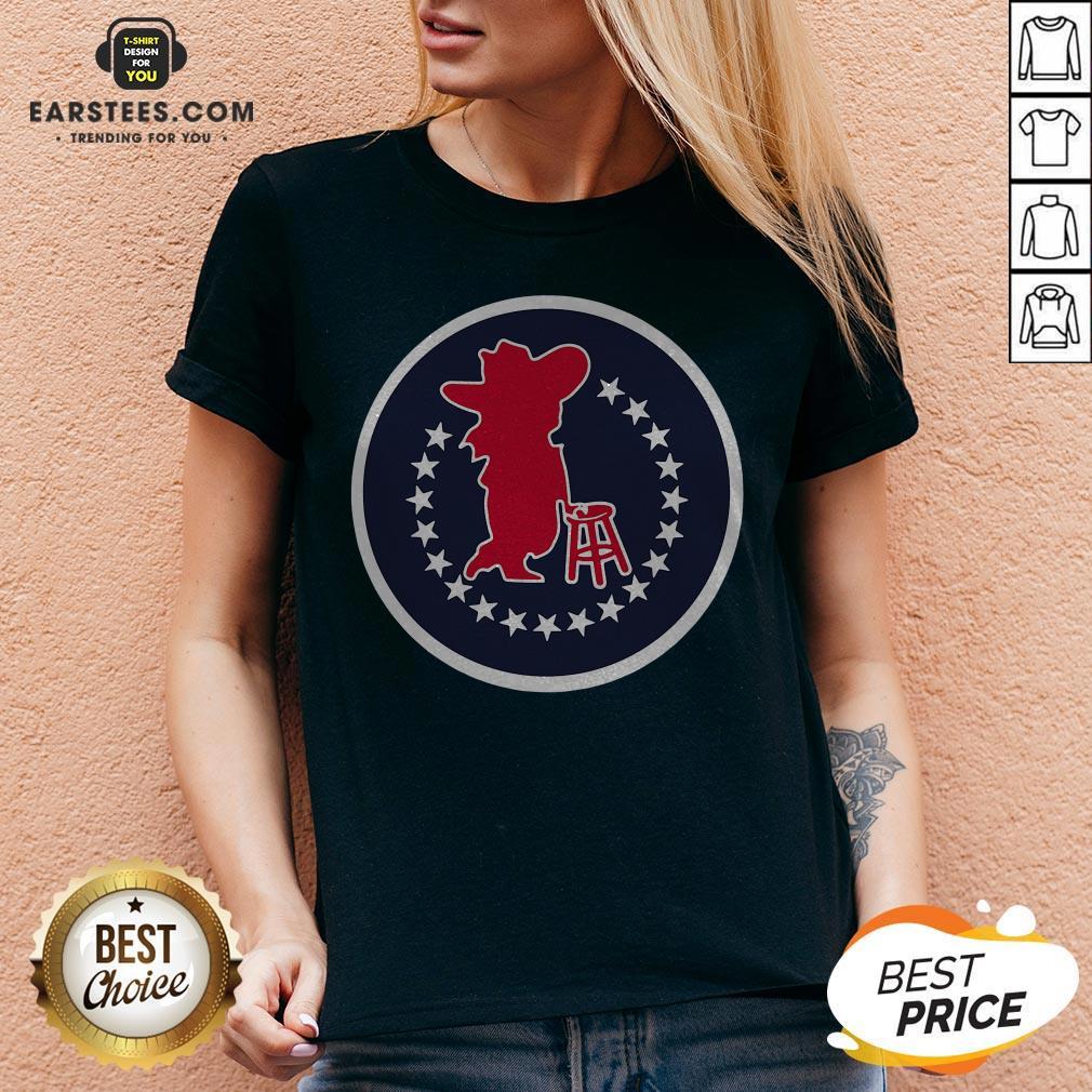 Funny Omr Pocket Logo V-neck - Design By Earstees.com