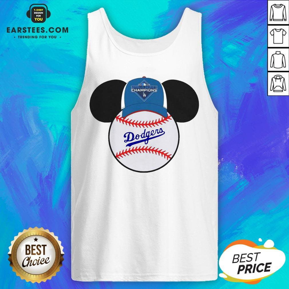 Hot L.A Dodgers Mickey Mouse Champions 2020 Tank Top - Design By Earstees.com