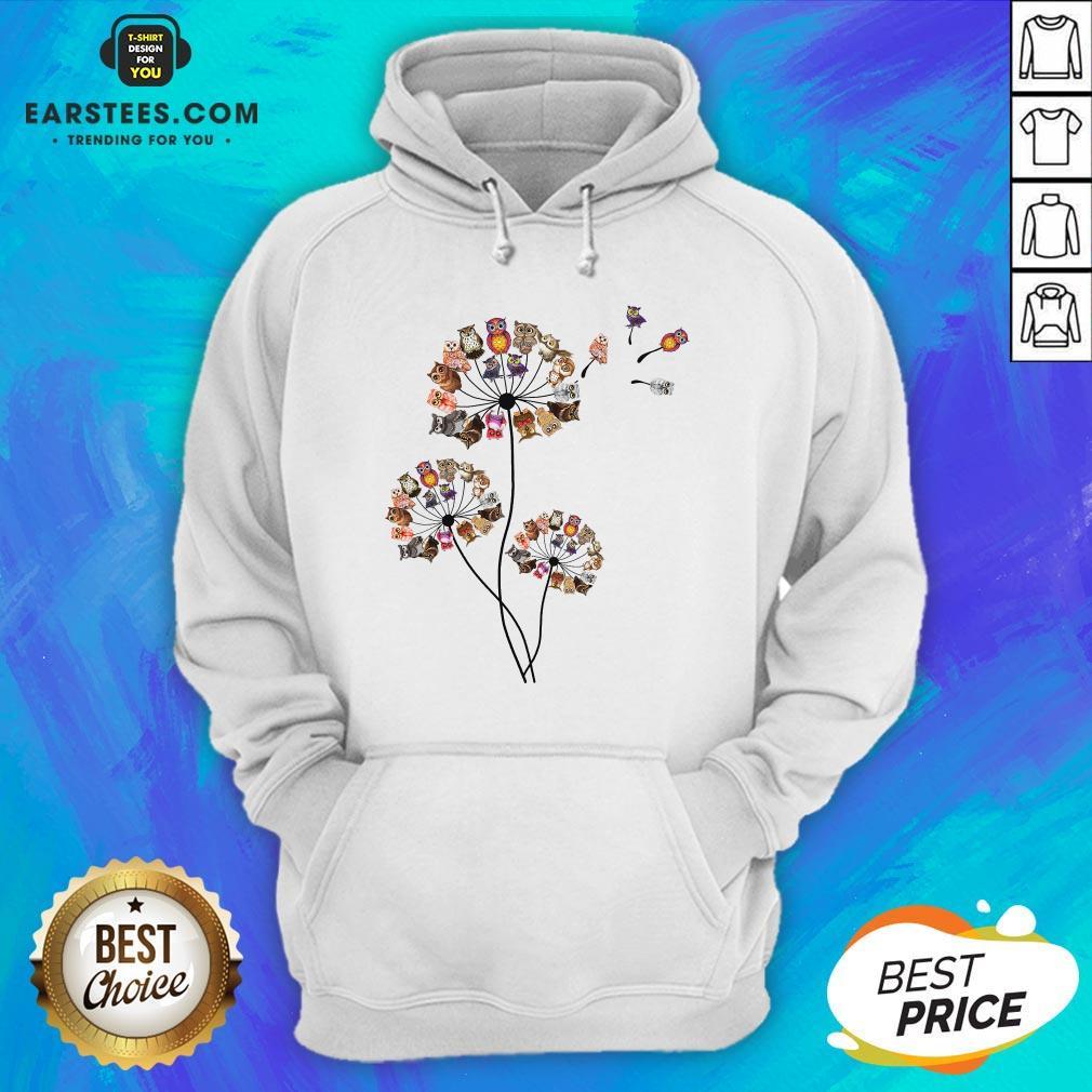 Hot Owl Dandelion Hoodie - Design By Earstees.com