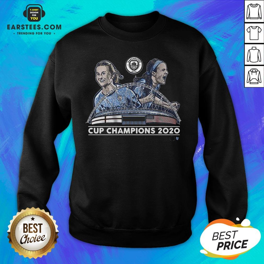 Top Lavelle And Mewis Man City 2020 Cup Champions Legend Sweatshirt - Design By Earstees.com