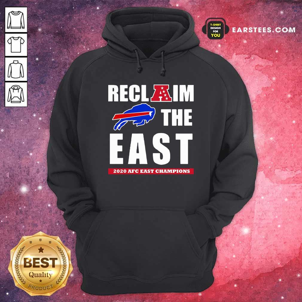 Buffalo Bills Reclaim The East 2020 AFC East Champions Hoodie - Design By Earstees.com