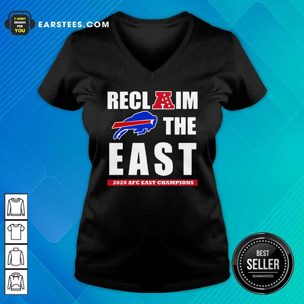 Buffalo Bills Reclaim The East 2020 AFC East Champions V-neck - Design By Earstees.com