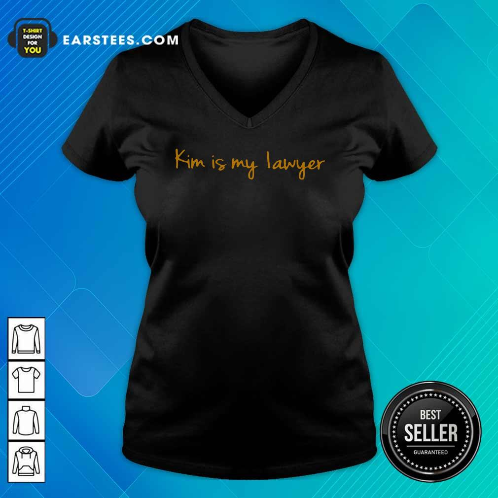 Kim Is My Lawyer V-neck - Design By Earstees.com