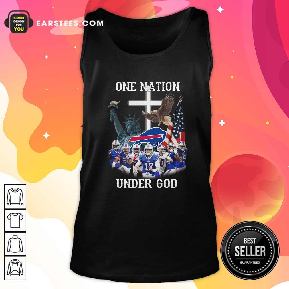 Buffalo Bills One Nation Under God American Flag Tank Top - Design By Earstees.com