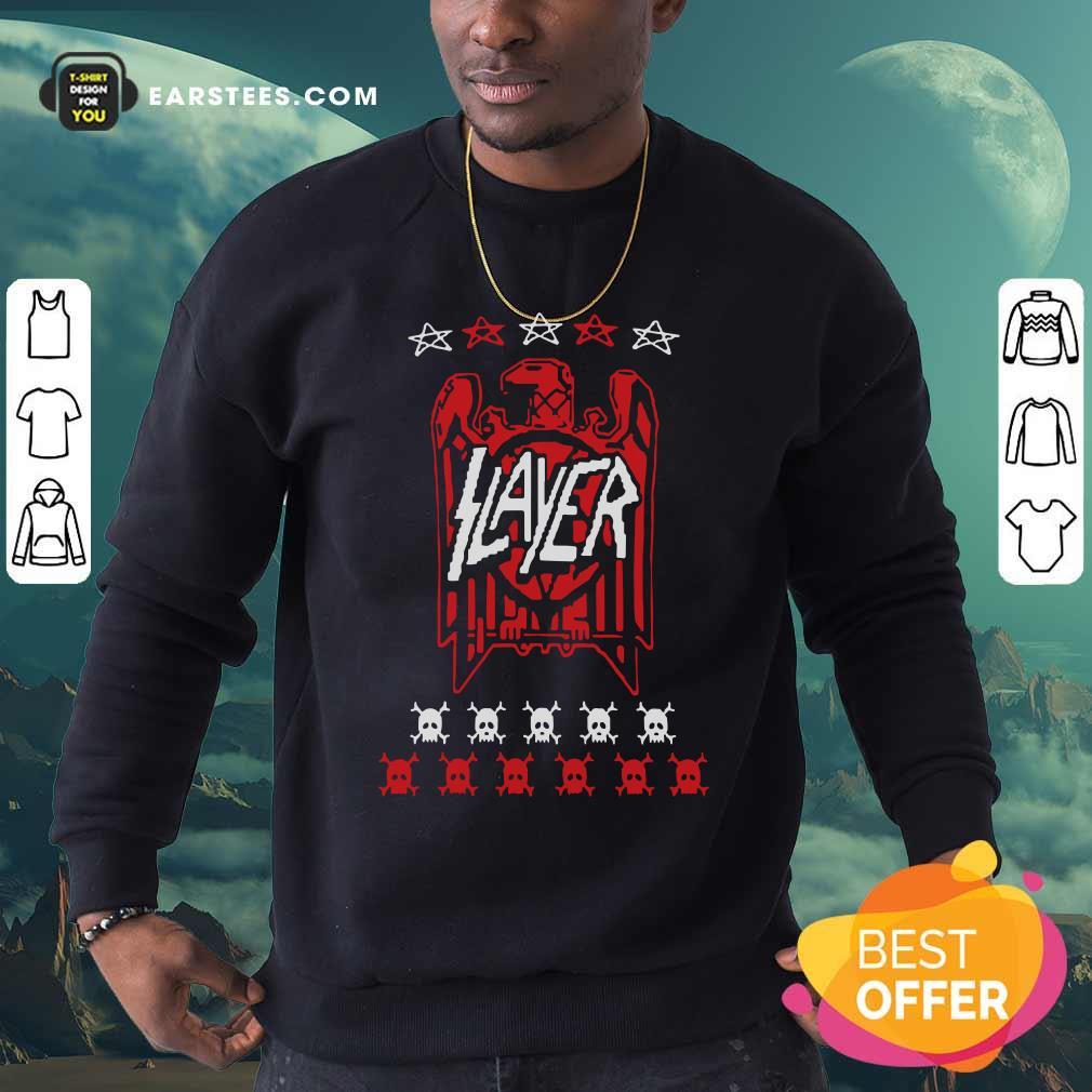 Slayer Eagle Skull Sweatshirt - Design By Earstees.com