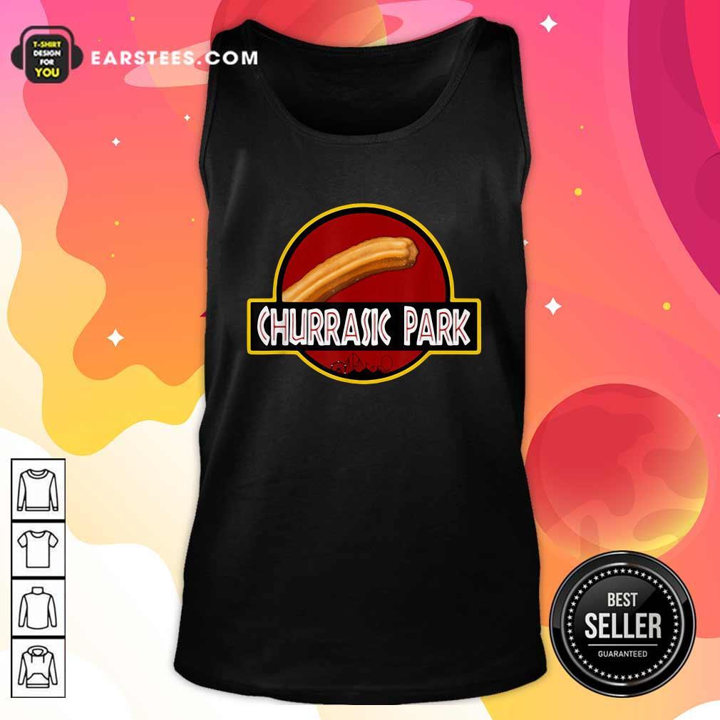Churrasic Park Monster Churro Funny Mexican Tank Top - Design By Earstees.com