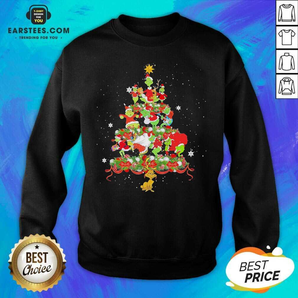 Official Grinch Santa Reindeer Christmas Tree Sweatshirt - Design By Earstees.com