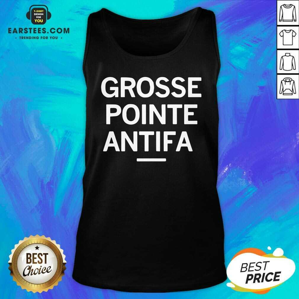 Official Grosse Pointe Antifa Tank Top- Design By Earstees.com