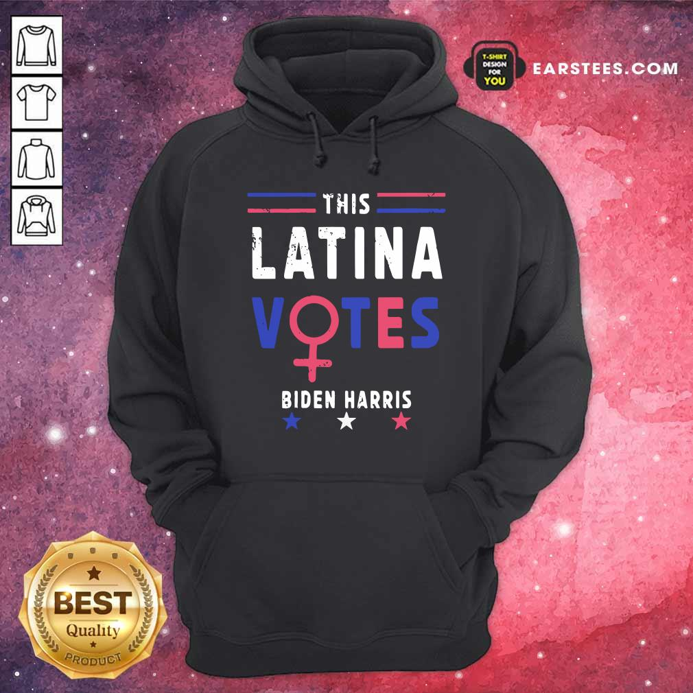 This Latina Votes Biden Harris Stars Election Hoodie - Design By Earstees.com