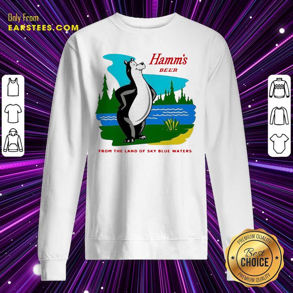 Hamm's Beer From The Land Of Sky Blue Waters Sweatshirt - Design By Earstees.com