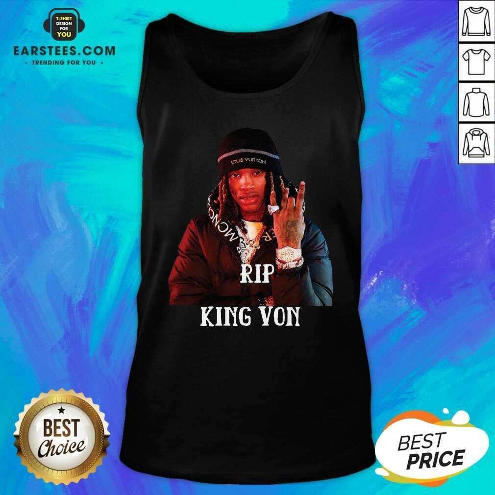 Original King Von RIP Tank Top - Design By Earstees.com