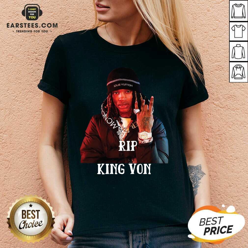 Original King Von RIP V-neck  - Design By Earstees.com