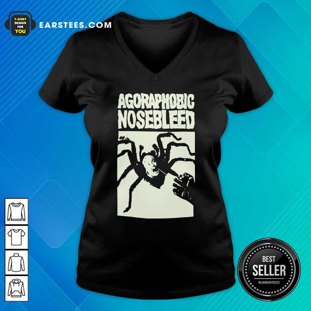 Agoraphobic Nosebleed Spider V-neck - Design By Earstees.com