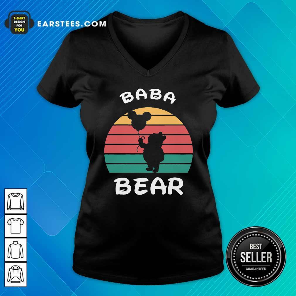 Baba Bear Disney Vintage Retro V-neck - Design By Earstees.com