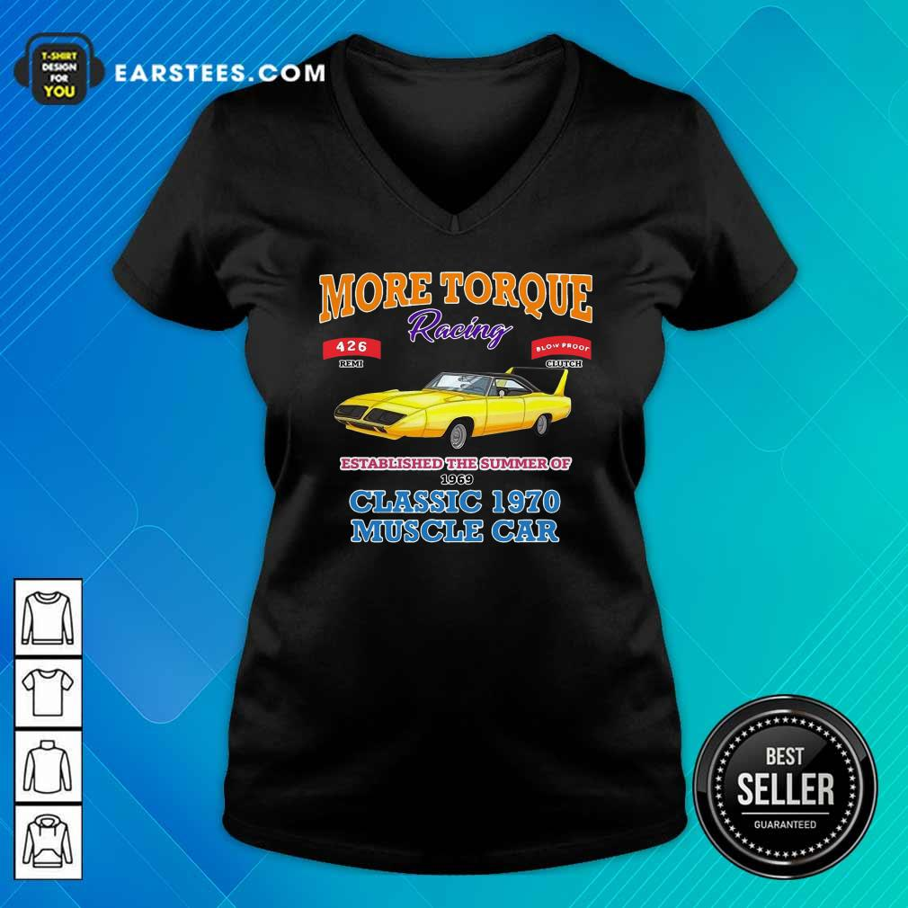 Classic Muscle Car Torque Garage Hot Rod V-neck - Design By Earstees.com