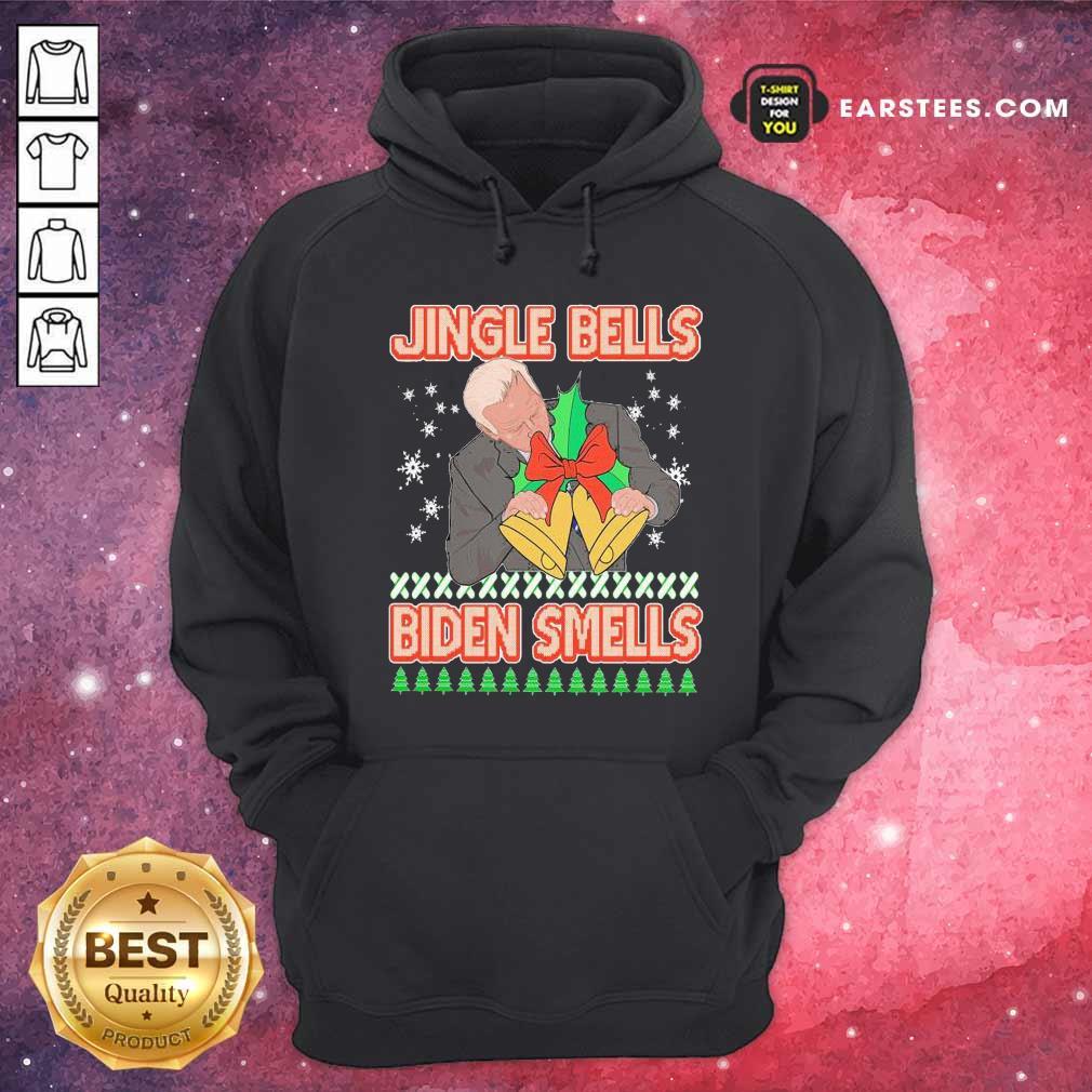 Jingle Bells Biden Smells Ugly Christmas 2020 Hoodie - Design By Earstees.com