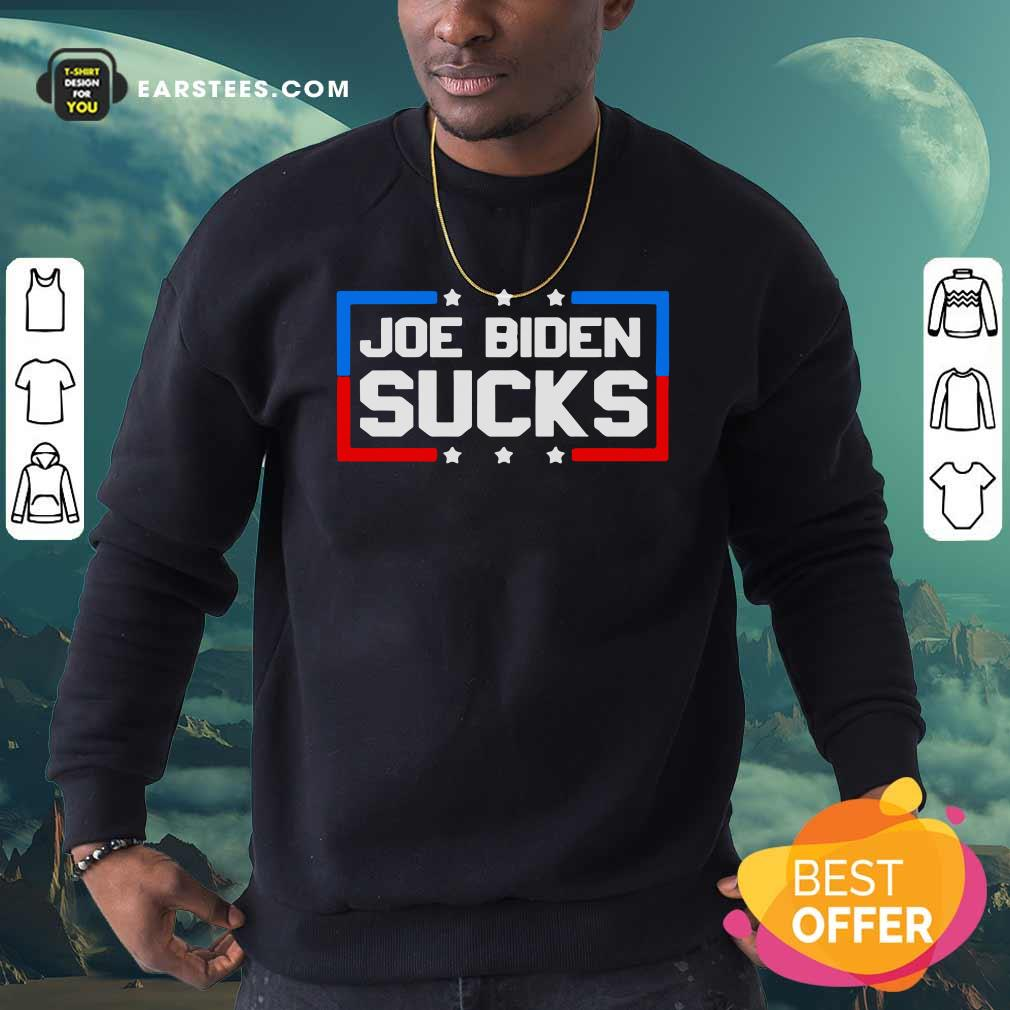 Joe Biden Sucks 2020 Anti Creepy Joe Donald Trump Republican Election Sweatshirt - Design By Earstees.com