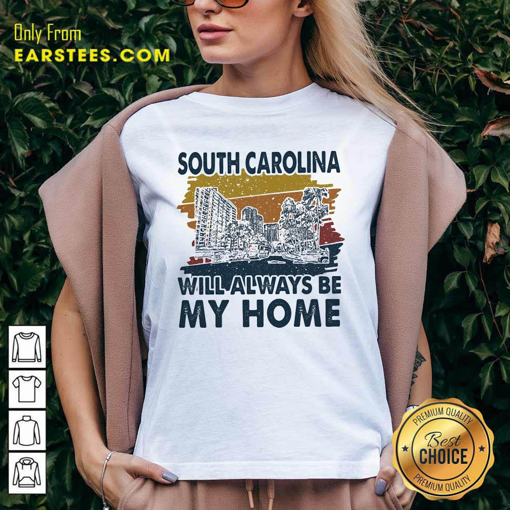 South Carolina Will Always Be My Home Vintage V-neck - Design By Earstees.com