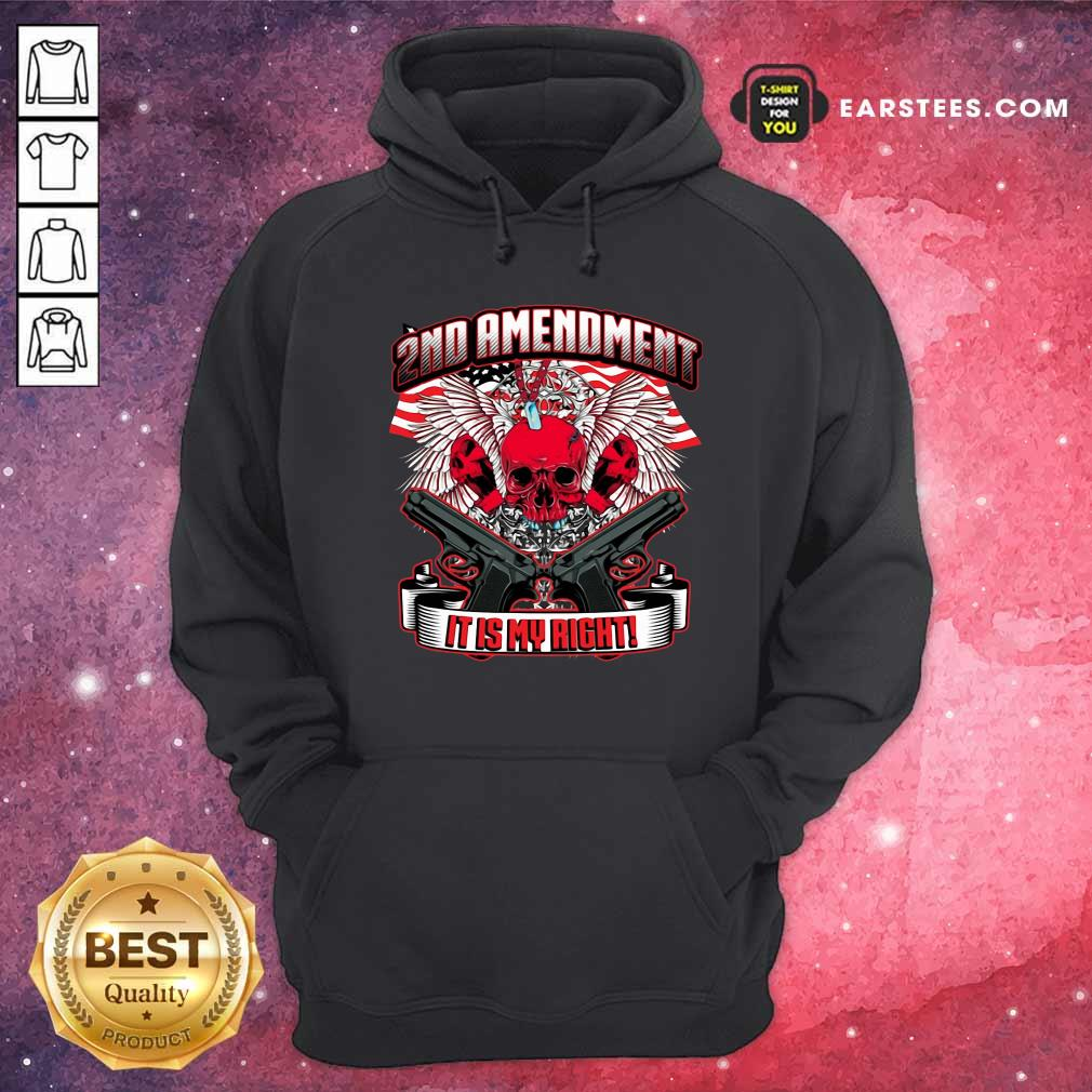 2nd Amendment It's My Right Hoodie - Design By Earstees.com