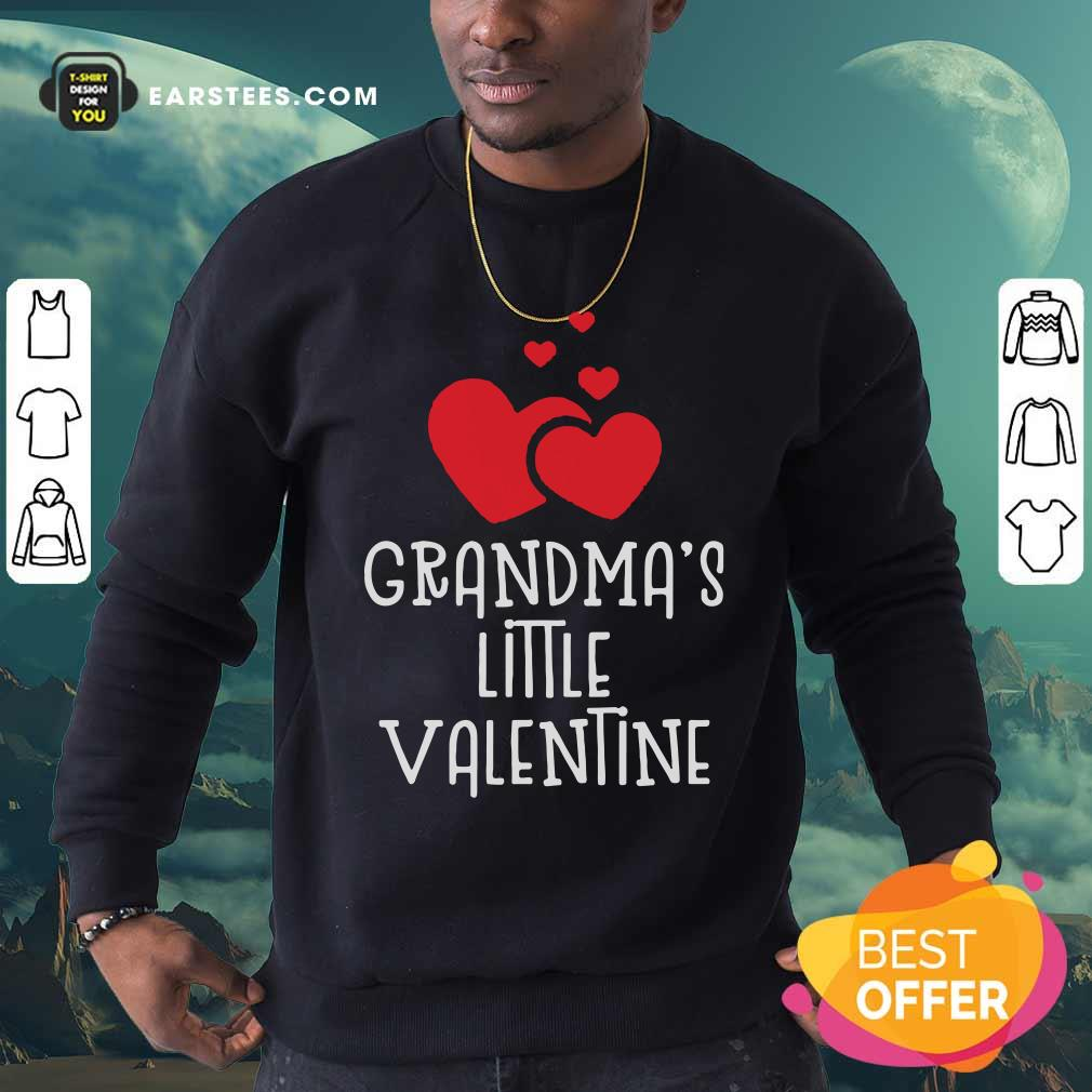 Kids Grandma's Little Valentin Sweatshirt - Design By Earstees.com