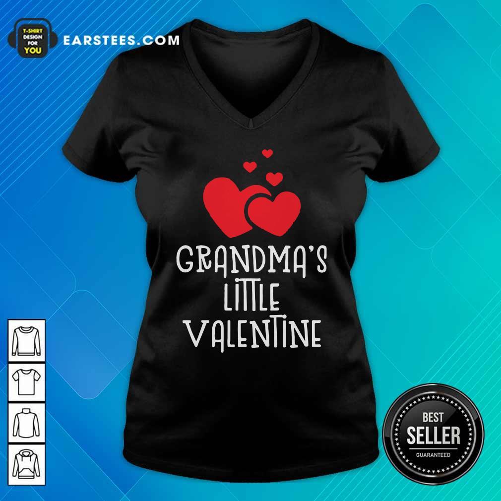 Kids Grandma's Little Valentin V-neck - Design By Earstees.com
