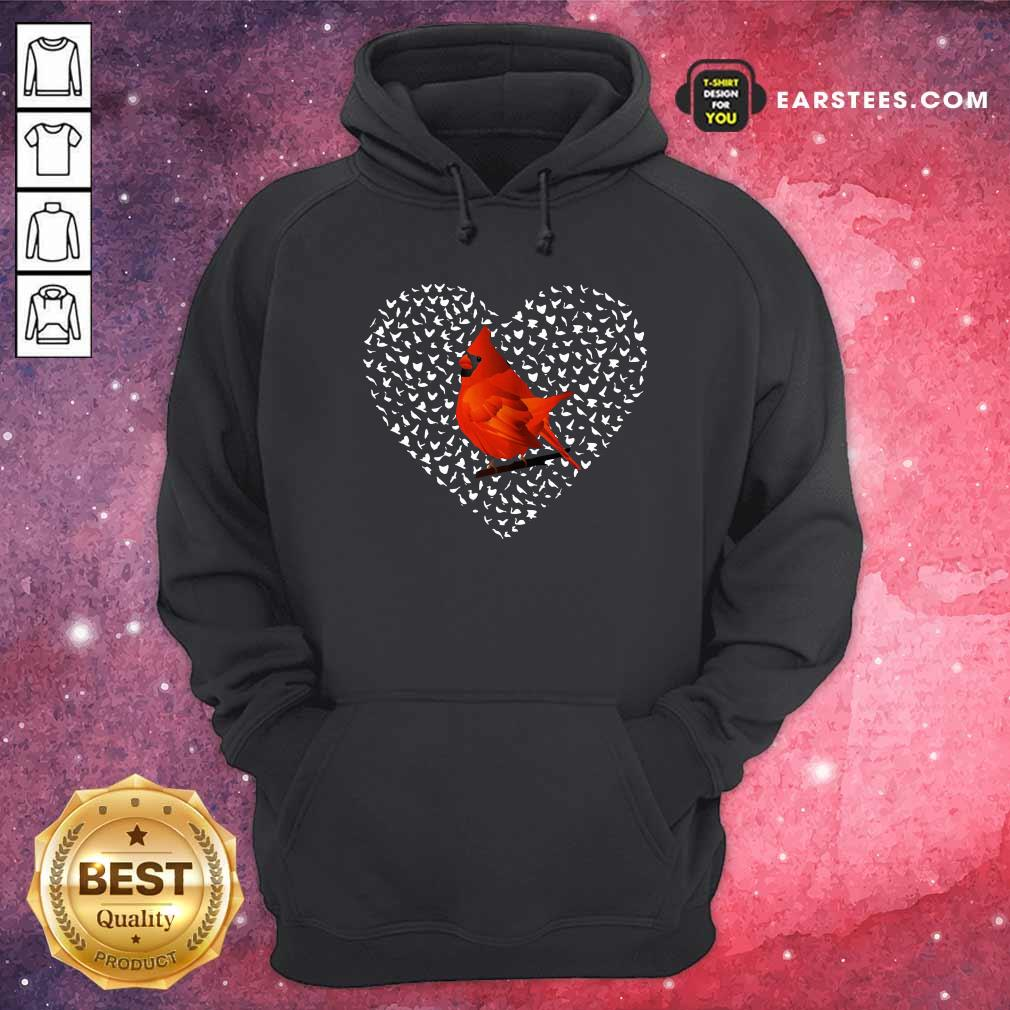 Cardinal Heart Personalized Hoodie- Design By Earstees.com
