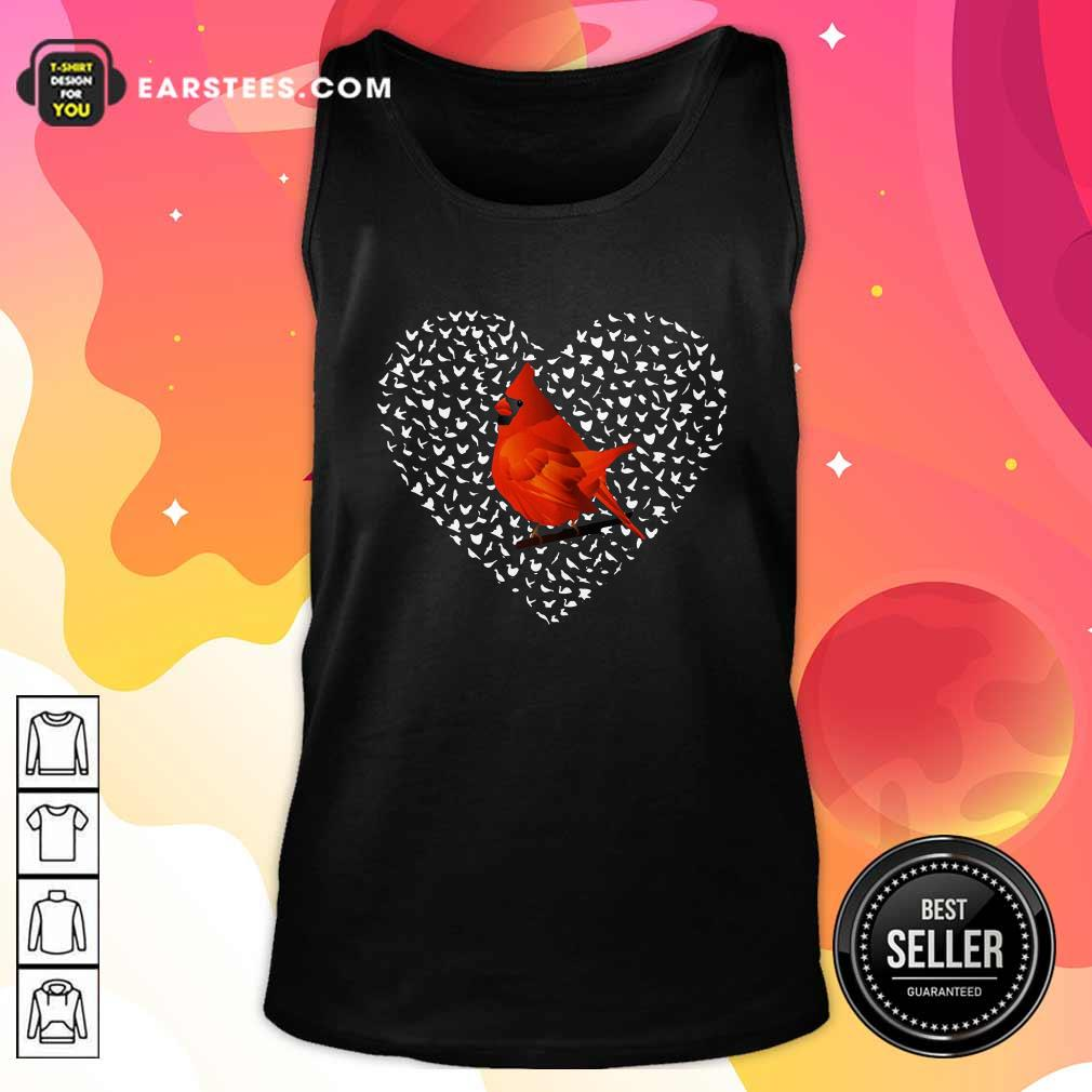 Cardinal Heart Personalized Tank Top- Design By Earstees.com