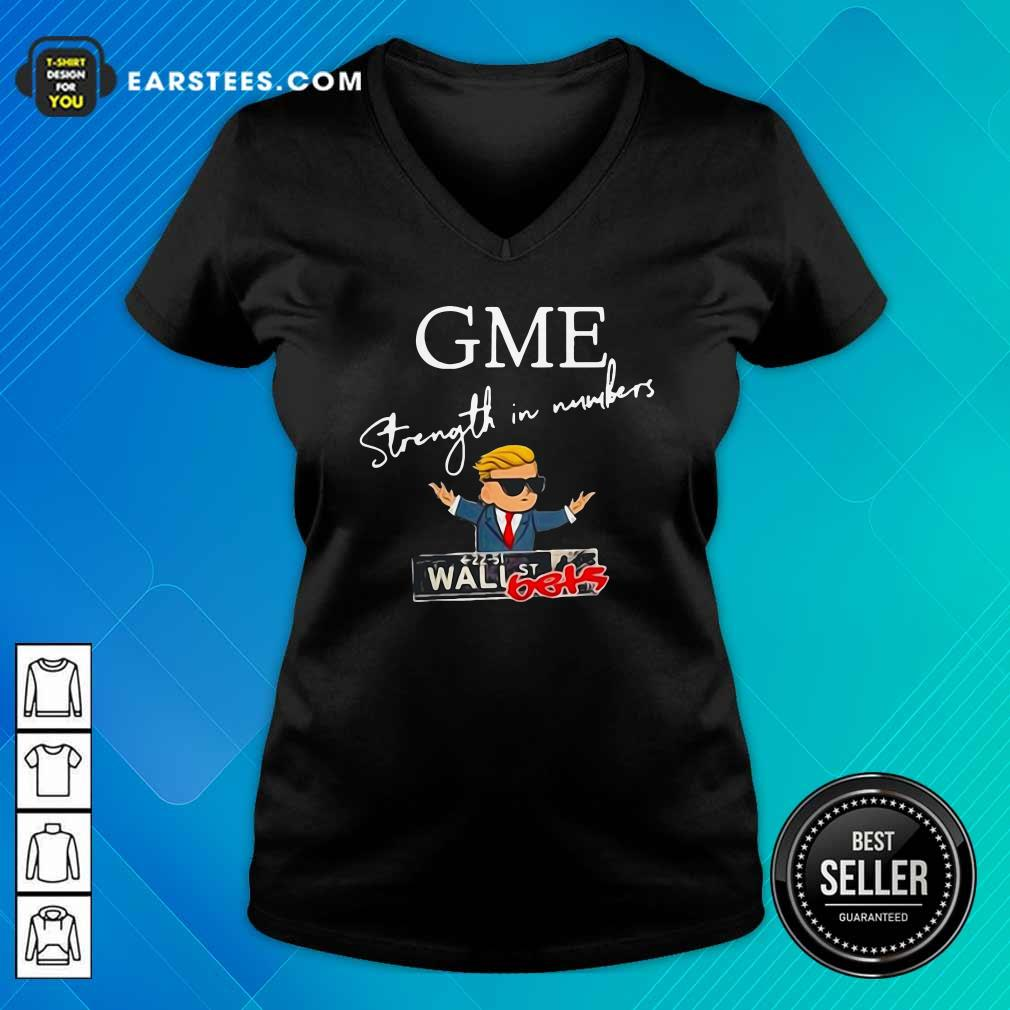 Donald Trump Gme Strength In Numbers V-neck- Design By Earstees.com