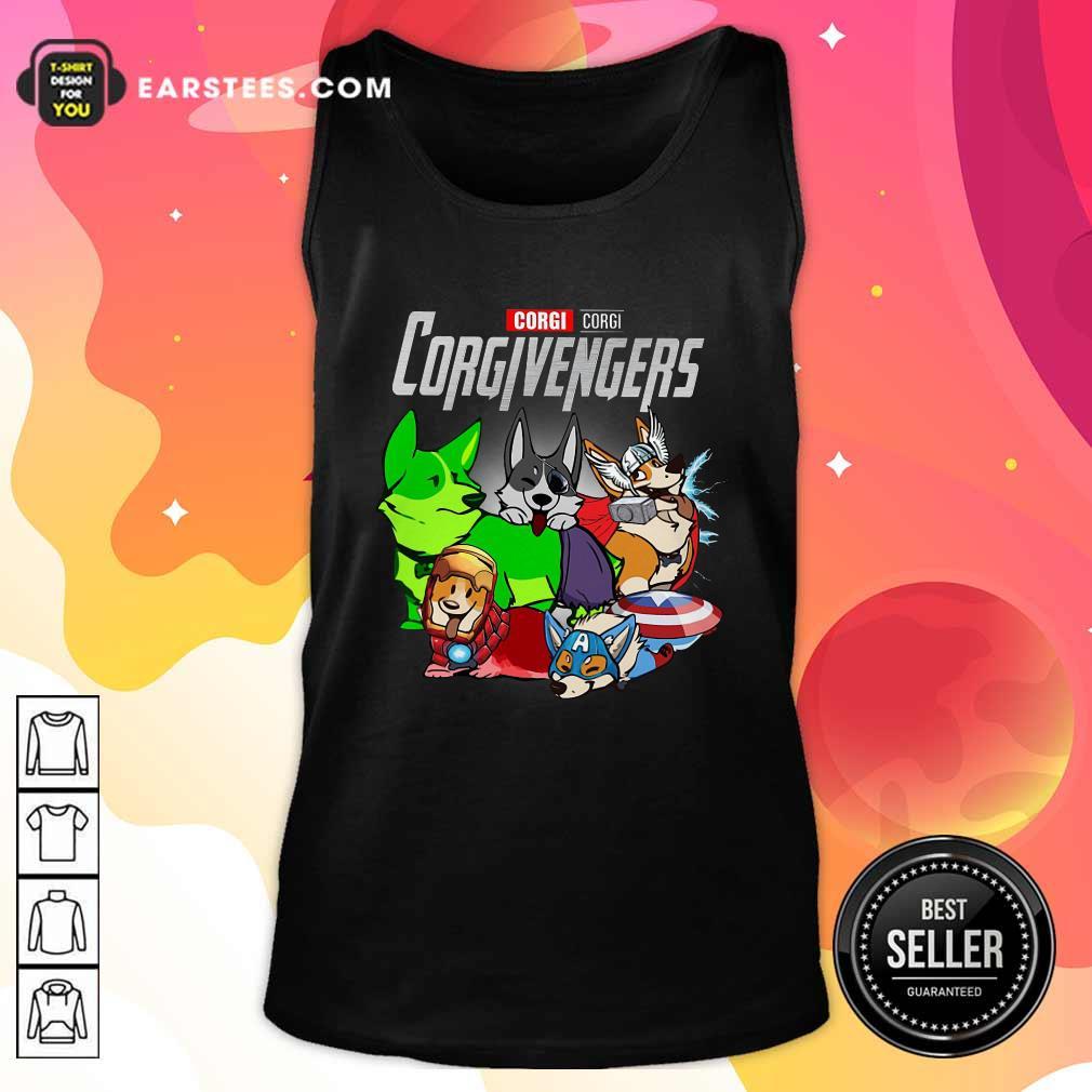 Marvel Avengers Corgi Corgivengers Tank Top- Design By Earstees.com