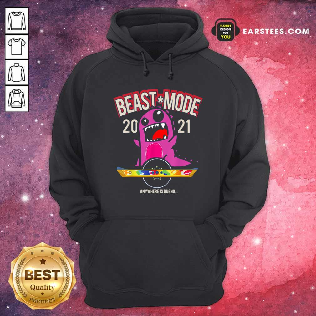 Beast Mode 2021 Floating Hoodie- Design By Earstees.com