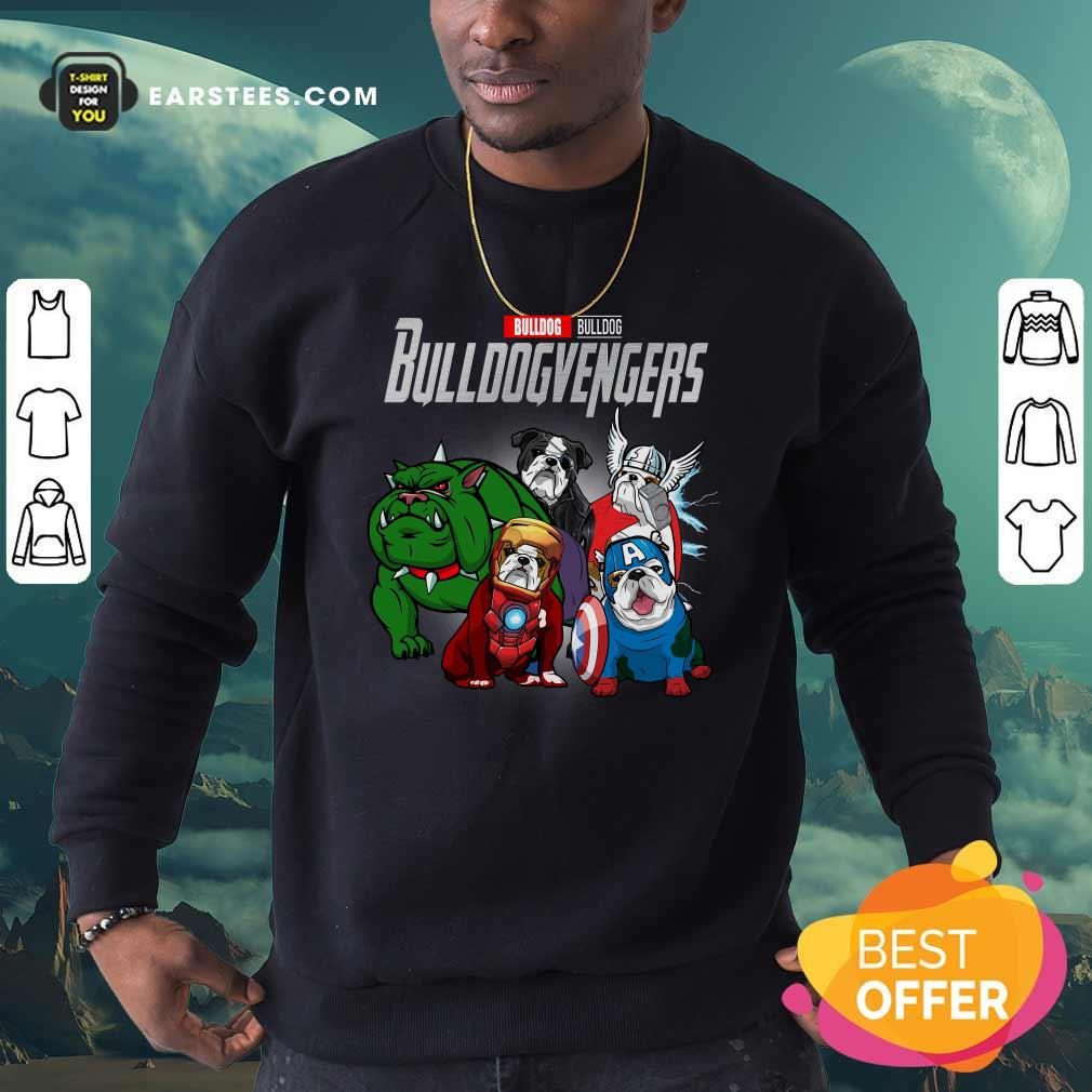 Marvel Avengers Bulldog Bullvengers Sweatshirt- Design By Earstees.com