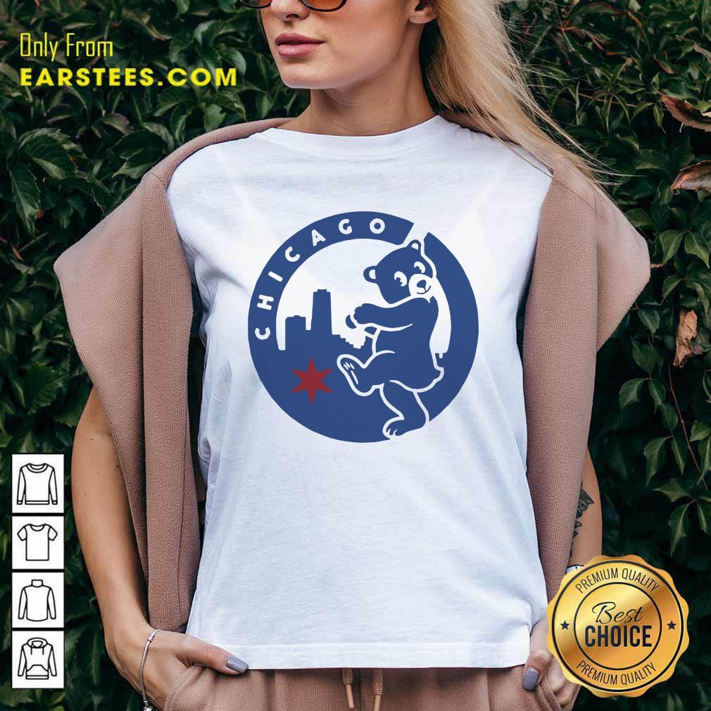 Chicago Bears Hometown Slugger V-neck- Design By Earstees.com