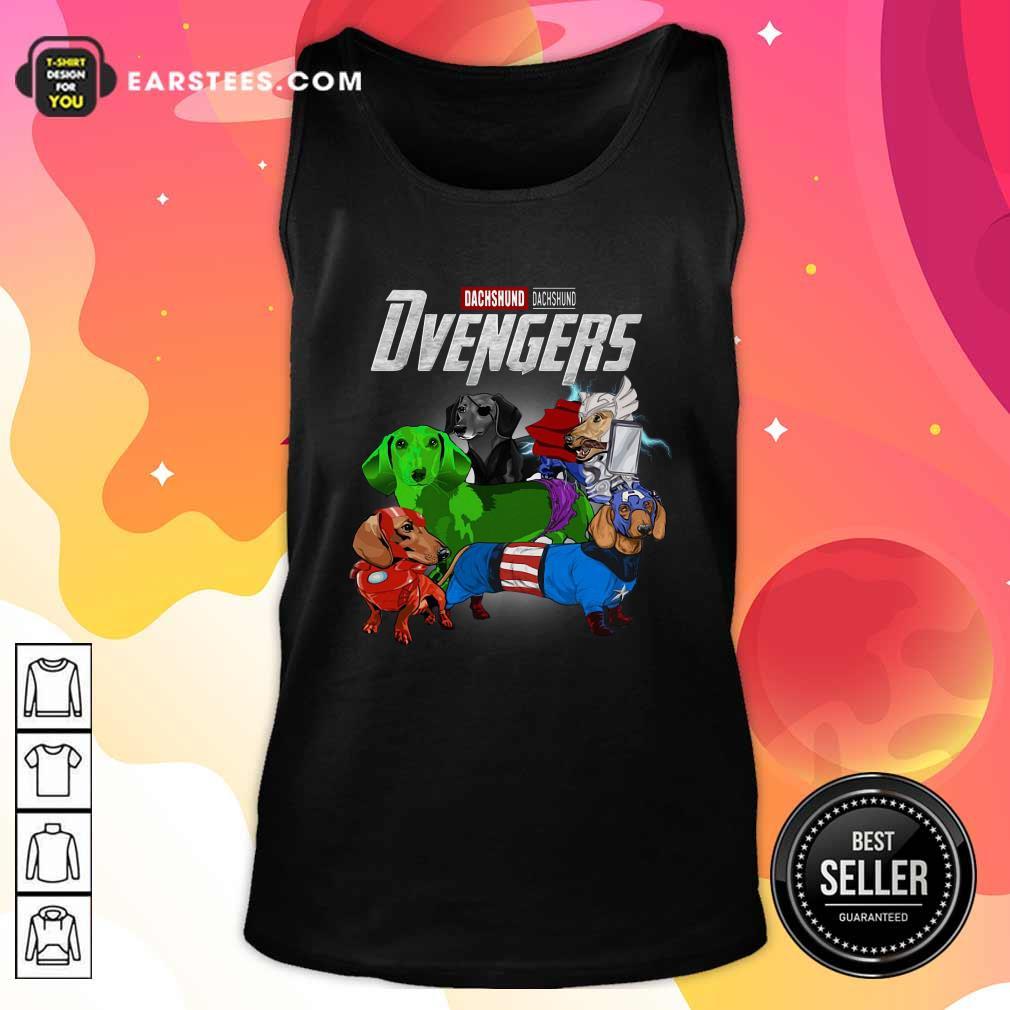 Dachshund Marvel Avengers Dvengers Tank Top- Design By Earstees.com