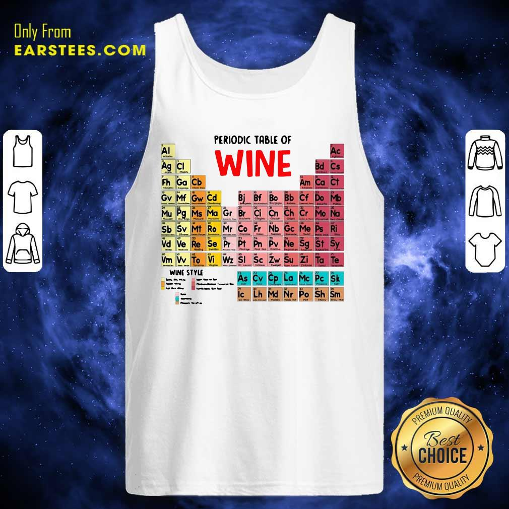 The Chemistry Periodic Table Of Wine Tank Top- Design By Earstees.com