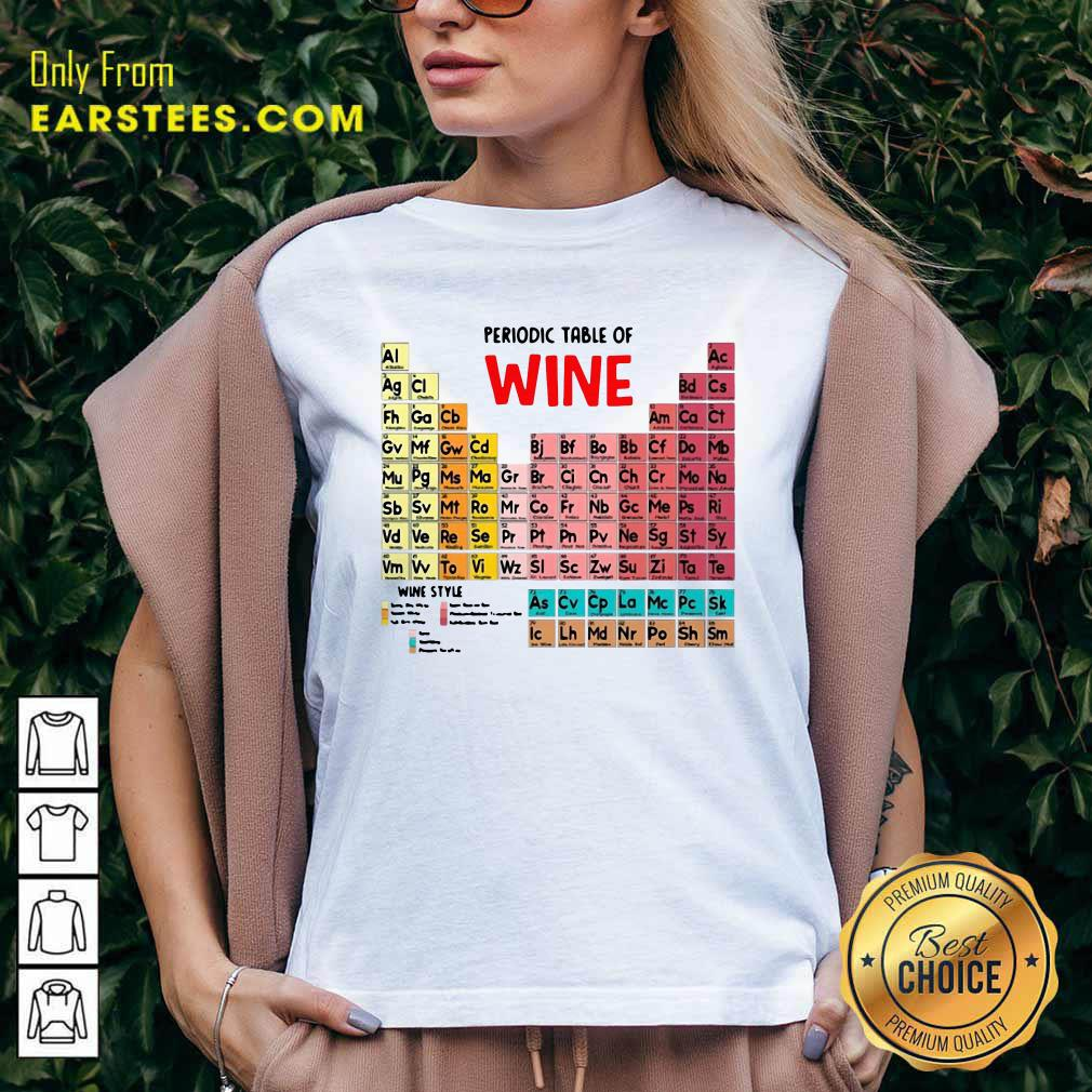 The Chemistry Periodic Table Of Wine V-neck- Design By Earstees.com