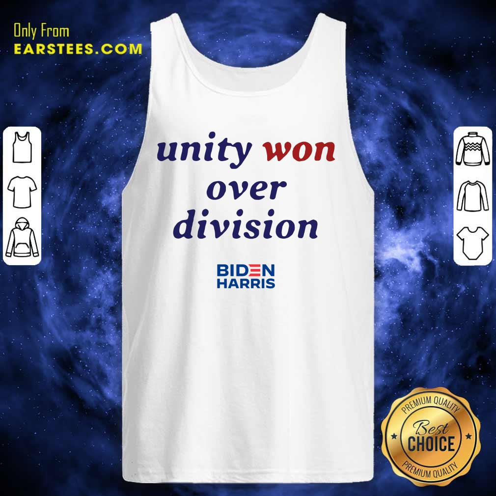 Unity Won Over Division Biden Harris Tank Top- Design By Earstees.com