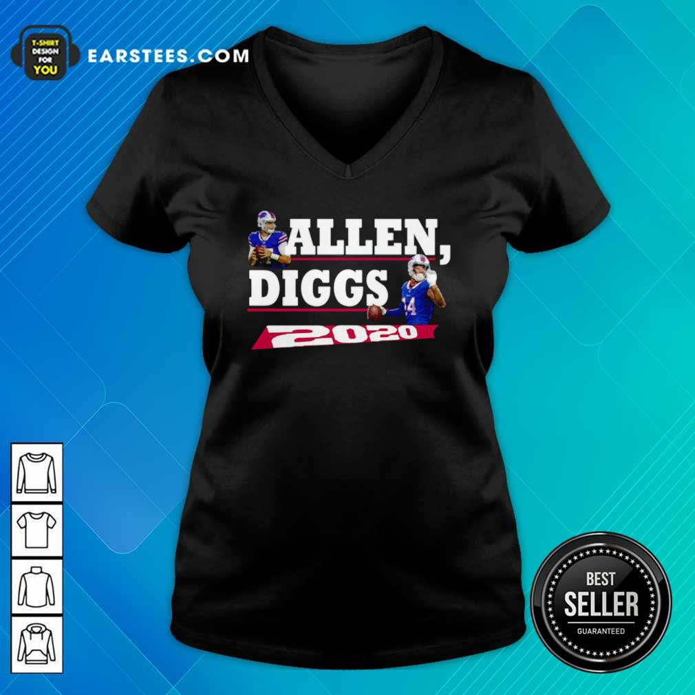 Allen Diggs 2020 Buffalo V-neck- Design By Earstees.com