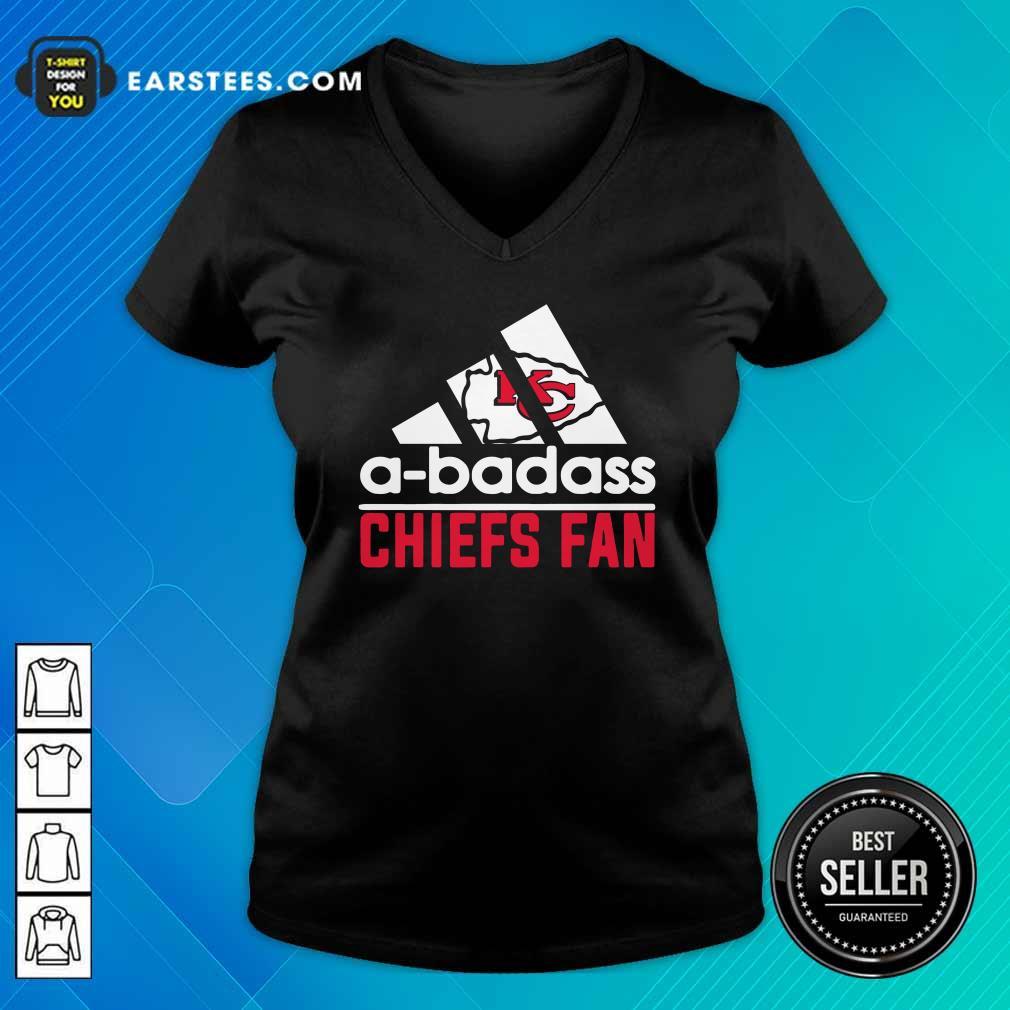 A Badass Chiefs Fan V-neck- Design By Earstees.com
