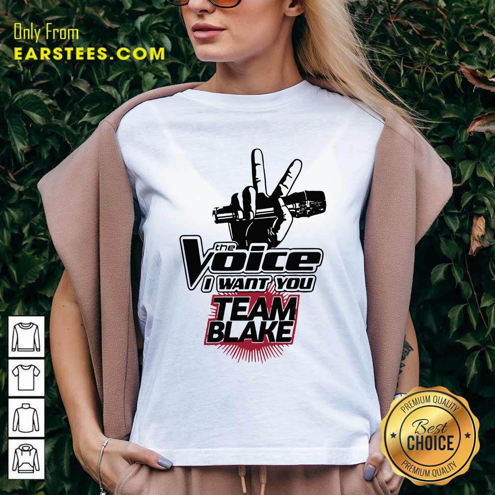 The Voice I Want You Team Blake 2021 V-neck- Design By Earstees.com