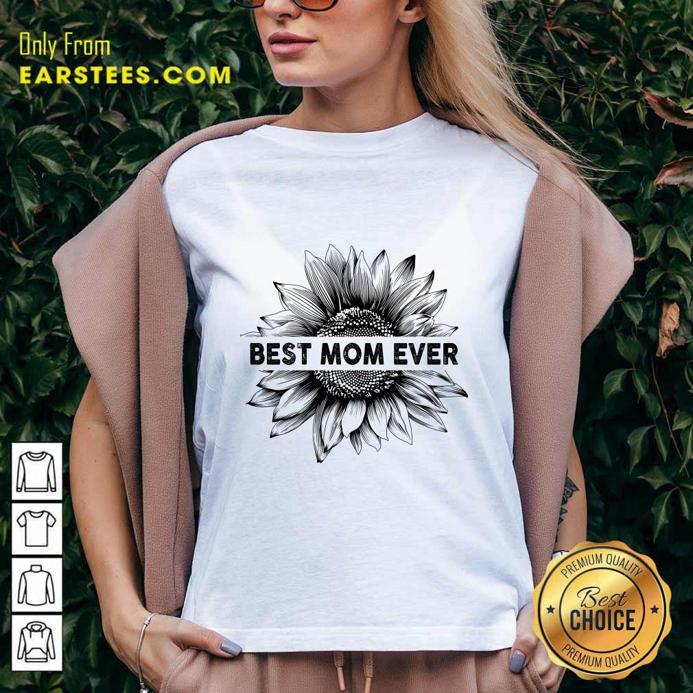 Best Mom Ever Sunflower Mother Day V-neck- Design By Earstees.com