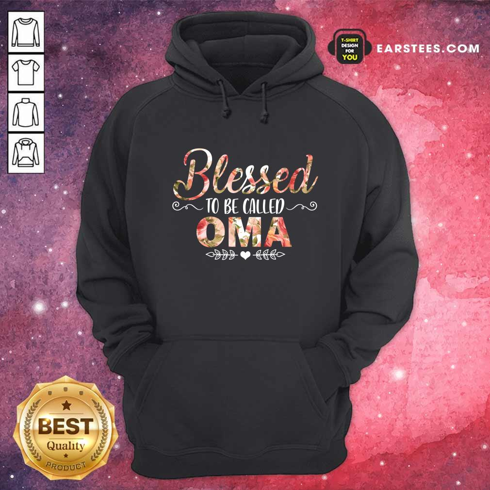 Blessed To Be Called Oma Mother Day Hoodie- Design By Earstees.com