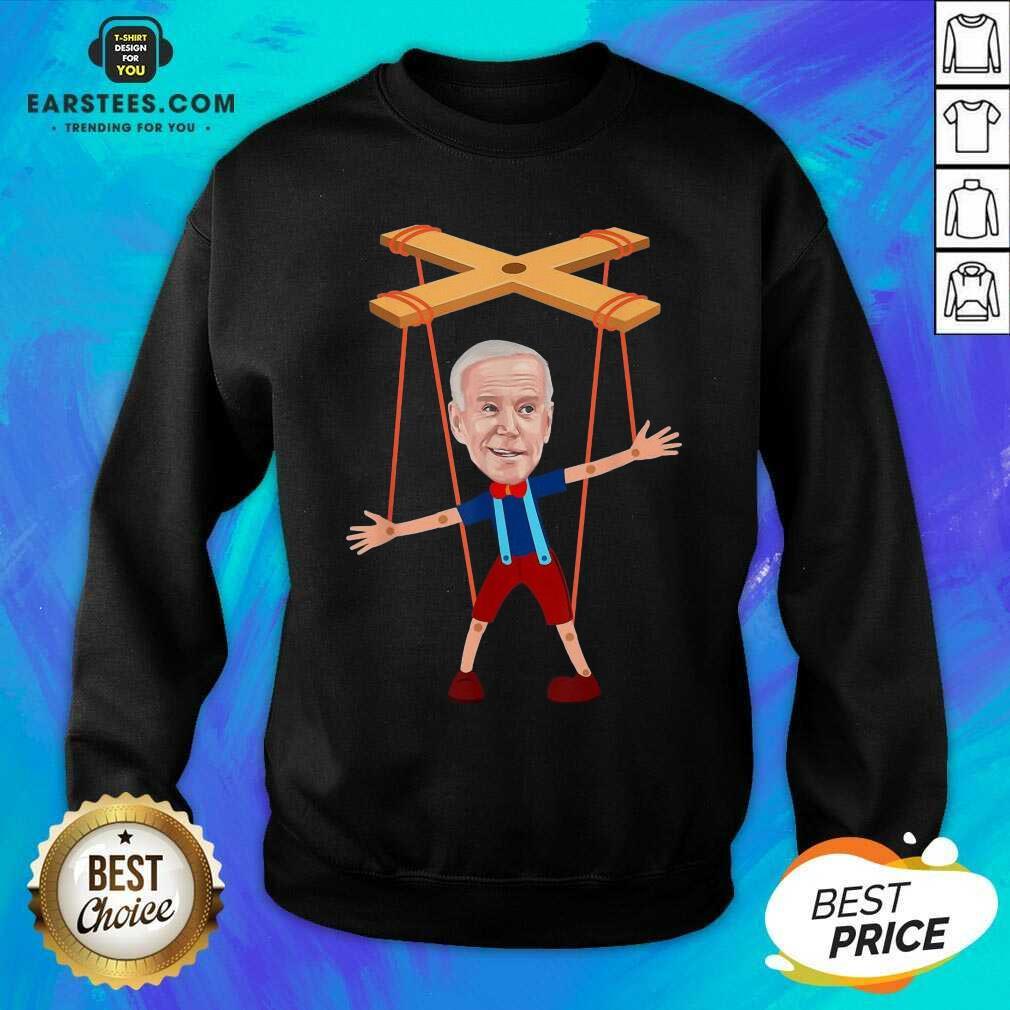 Good Joe Biden As A Puppet Ecstatic 7 Sweatshirt