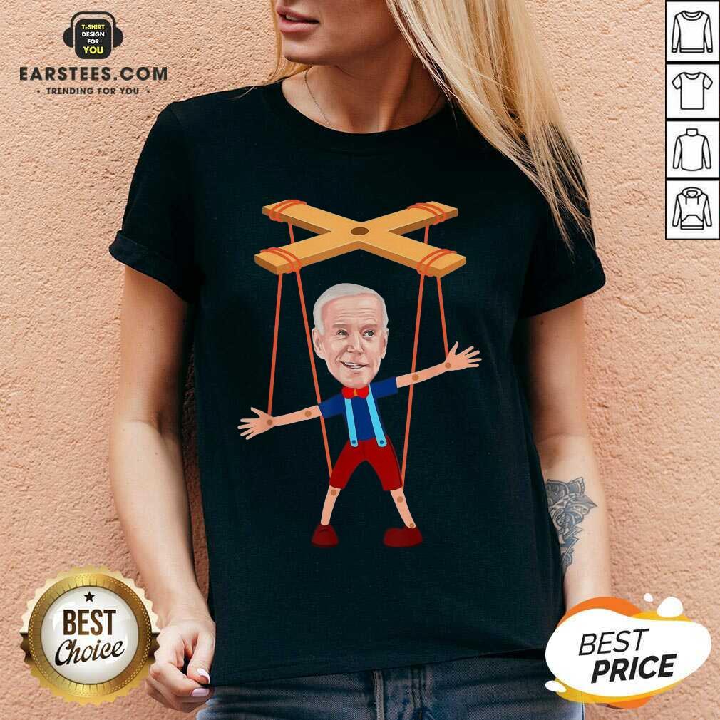 Good Joe Biden As A Puppet Ecstatic 7 V-neck