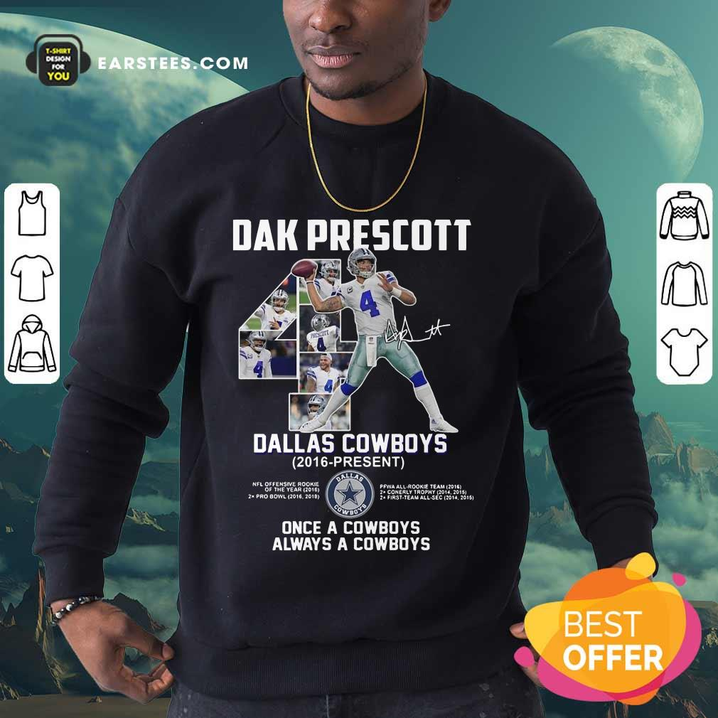 Hot Dak Prescott 4 Dallas Cowboys 2016 Sweatshirt