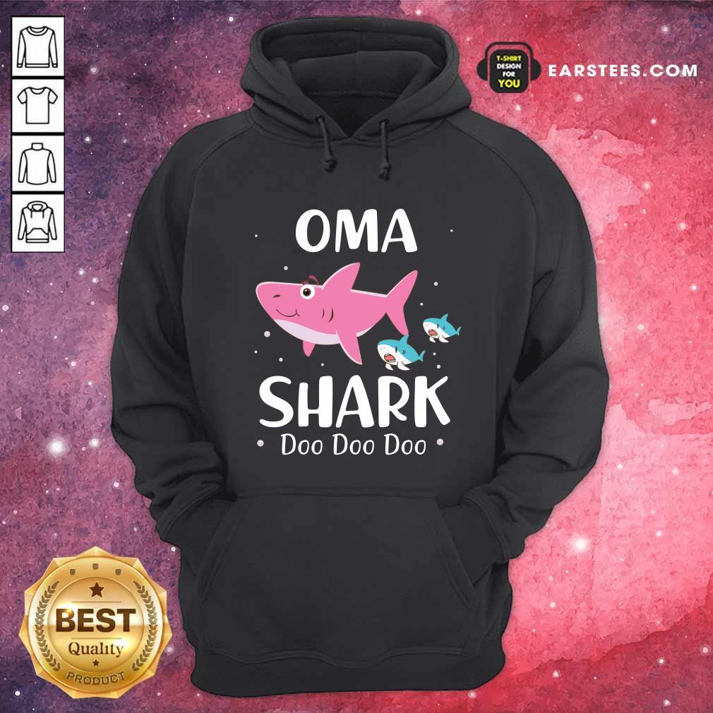 Oma Shark Doo Doo Mother Day Hoodie- Design By Earstees.com